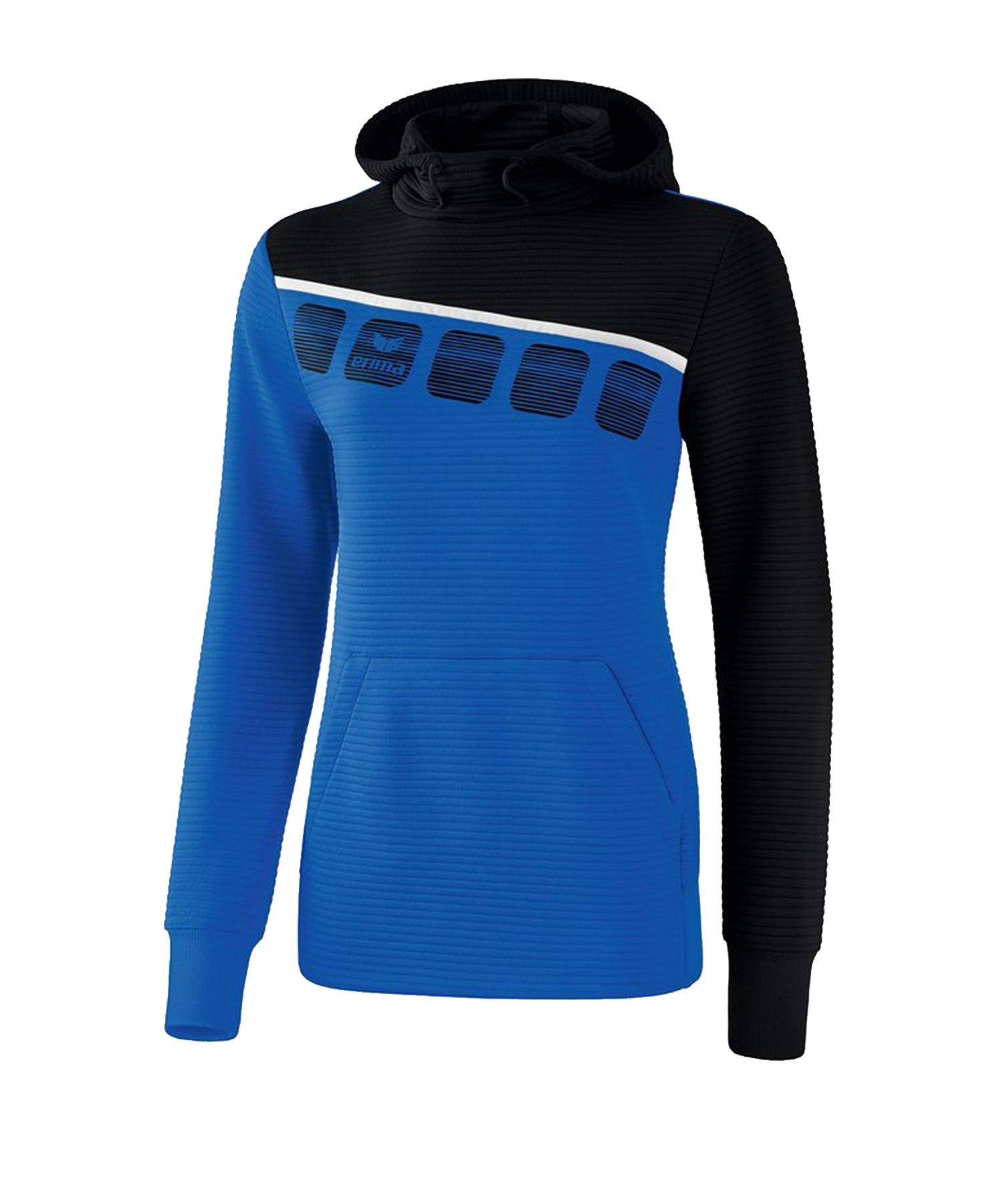 Erima 5-C Kapuzensweat Damen Blau Schwarz - Blau