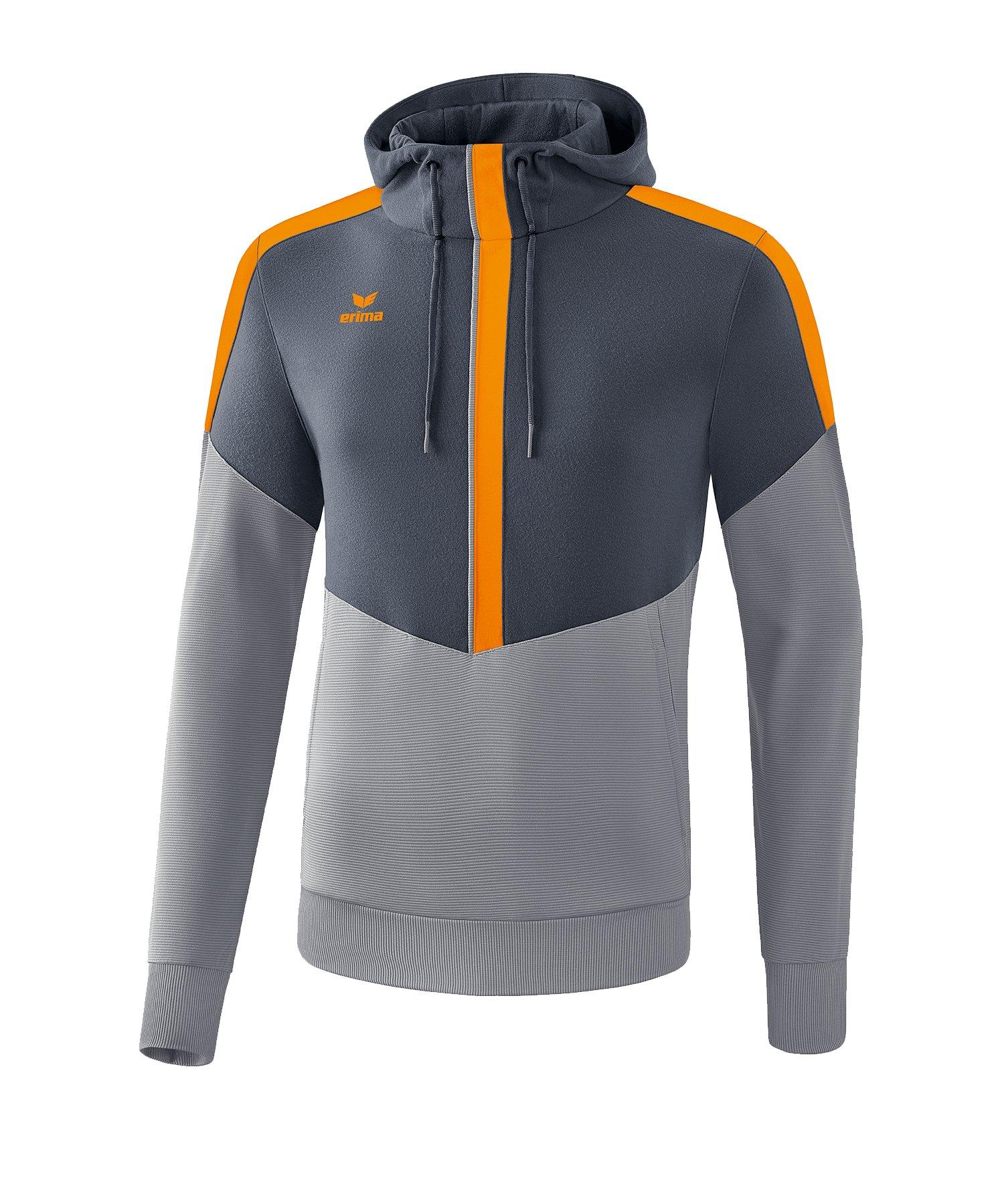 Erima Squad Hoody Grau Orange - grau