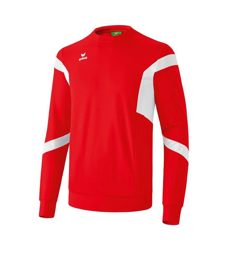 Erima Classic Team Sweatshirt Kids Rot Weiss - rot