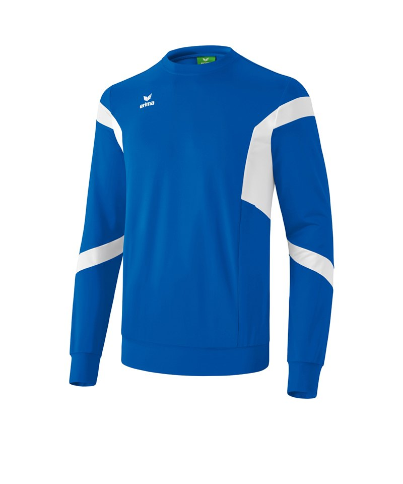 Erima Classic Team Sweatshirt Kids Blau Weiss - blau