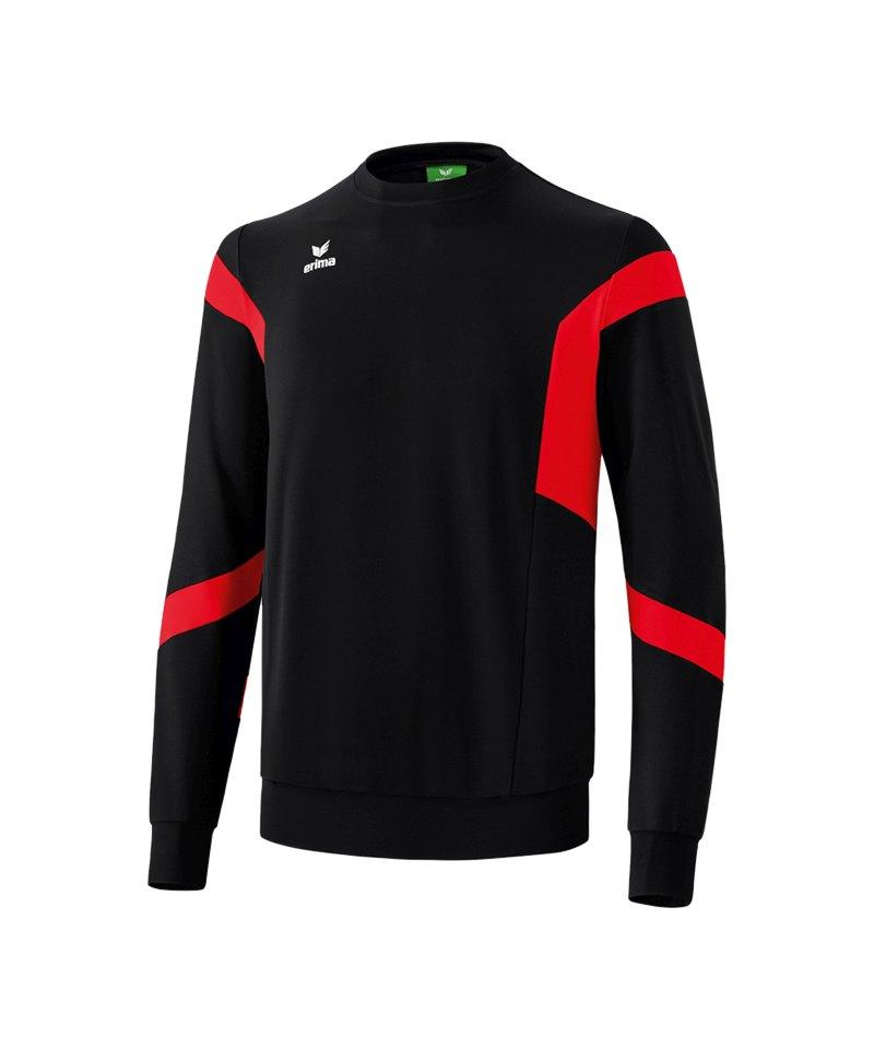 Erima Classic Team Sweatshirt Schwarz Rot - schwarz