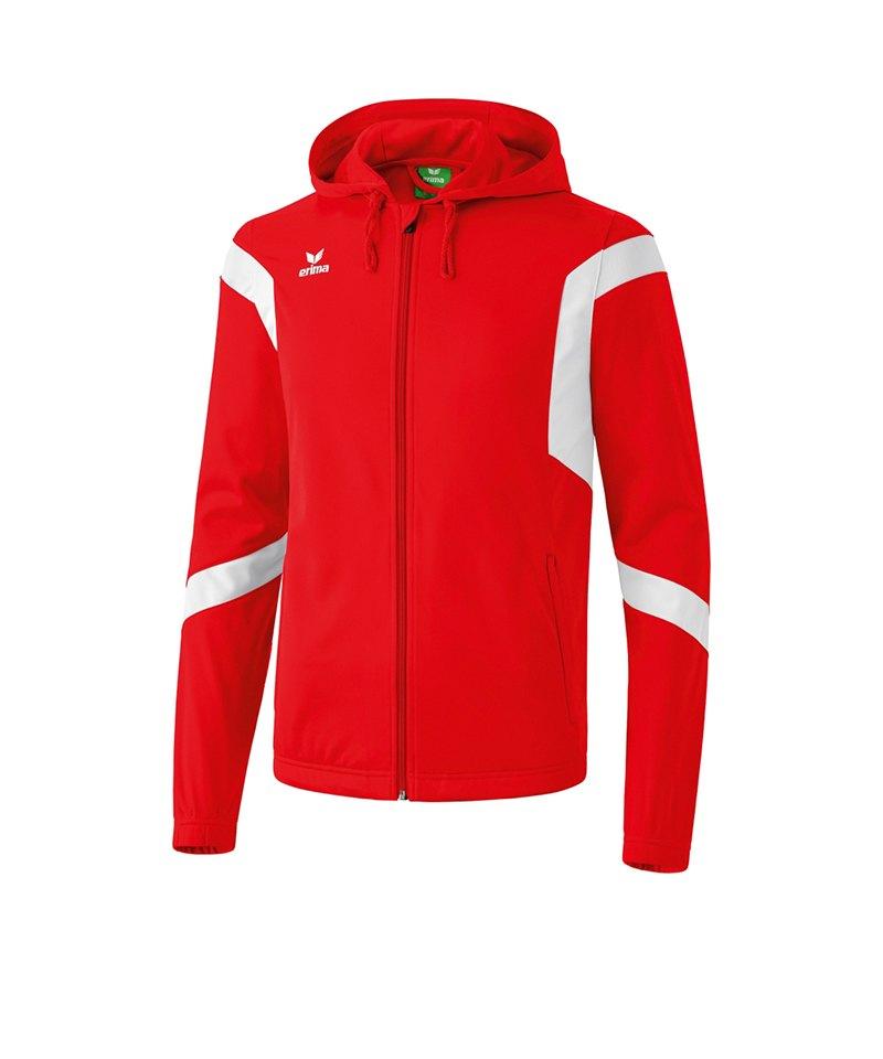 Erima Trainingsjacke Classic Team Kinder Rot Weiss - rot