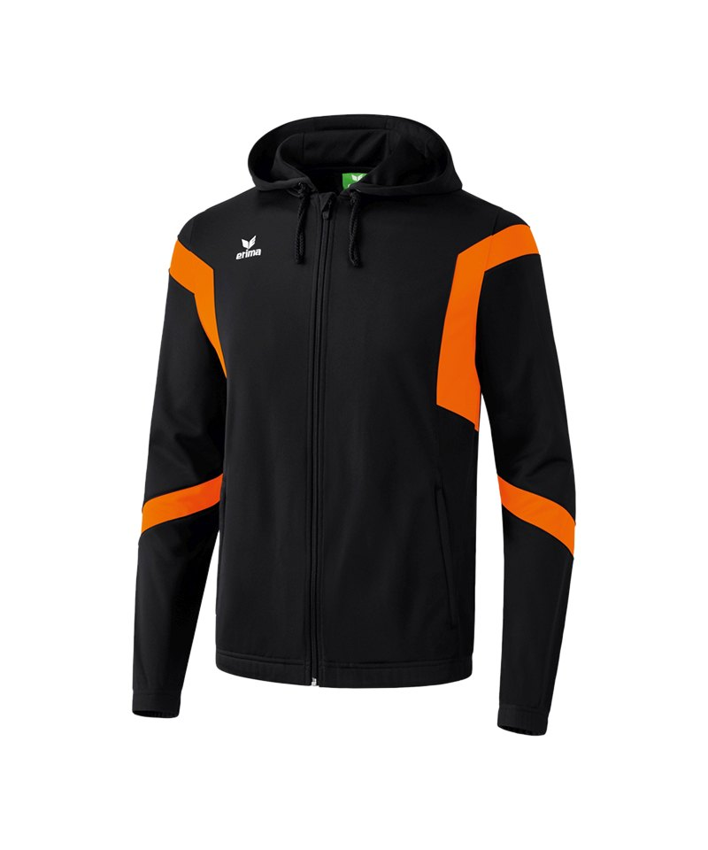 Erima Trainingsjacke Classic Team Kinder Schwarz Orange - schwarz