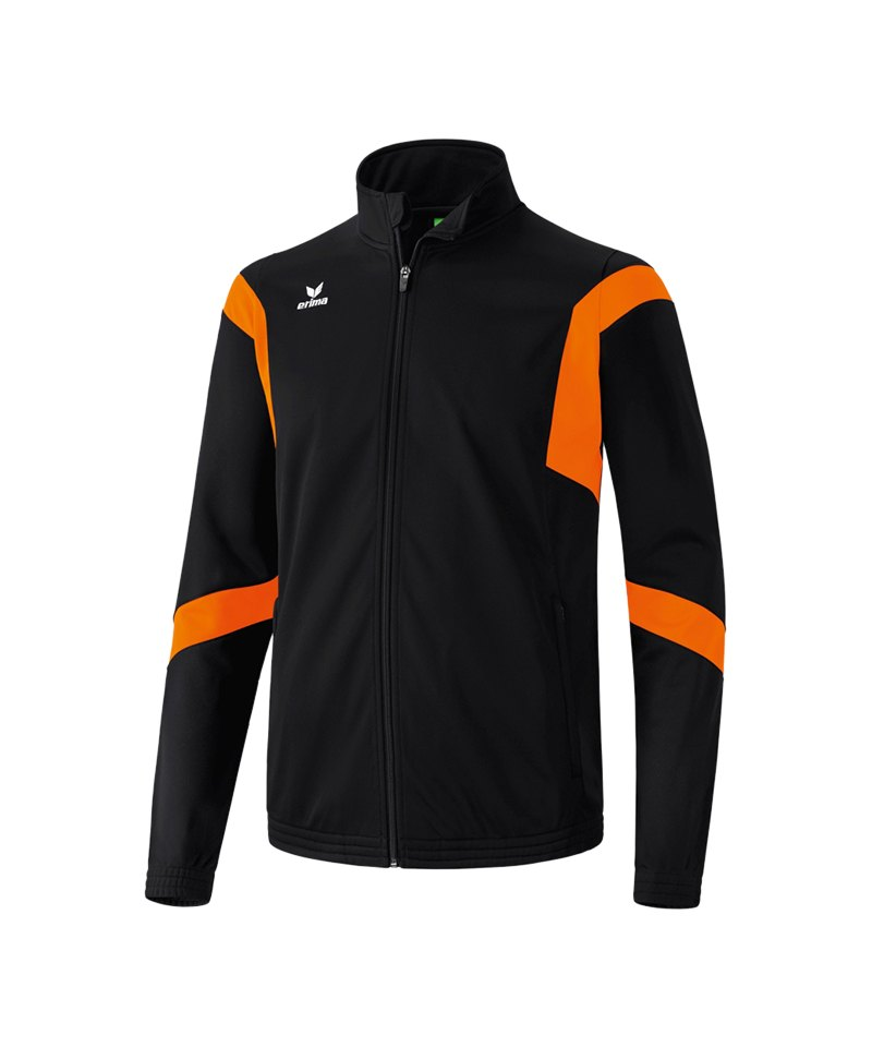 Erima Trainingsjacke Classic Team Schwarz Orange - schwarz