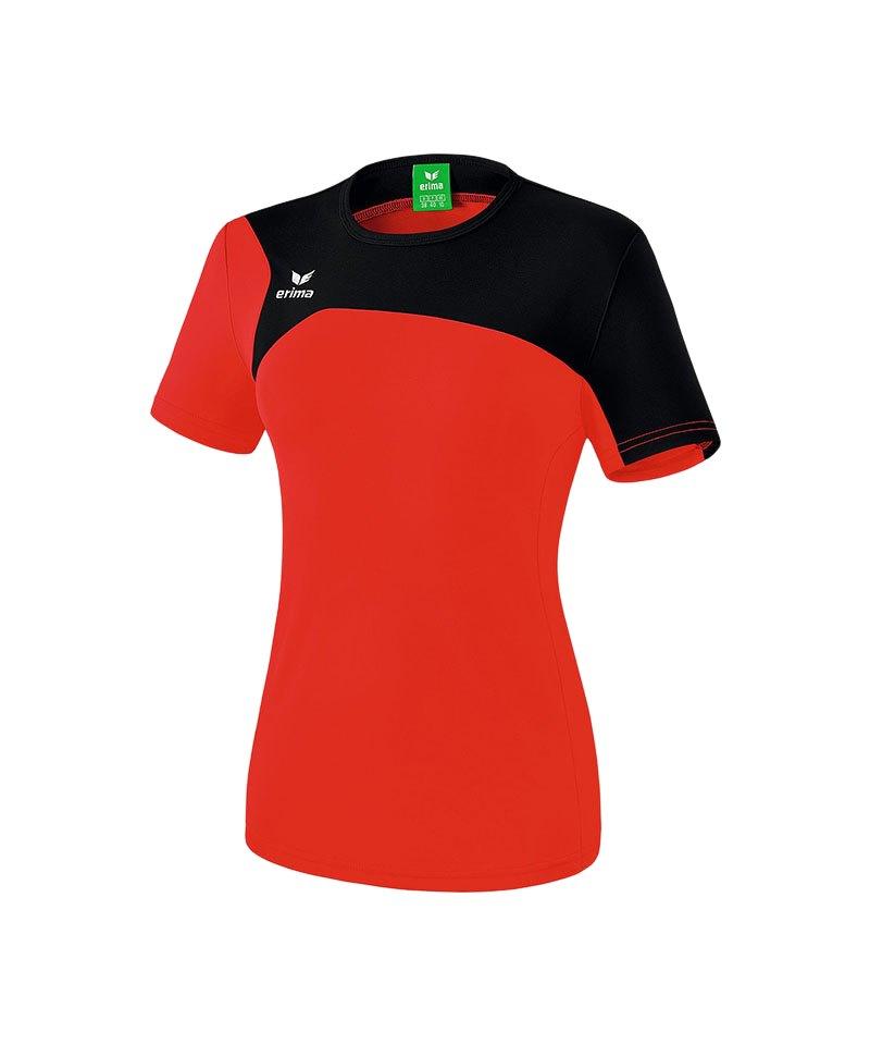 Erima T-Shirt Club 1900 2.0 Damen Rot Schwarz - rot