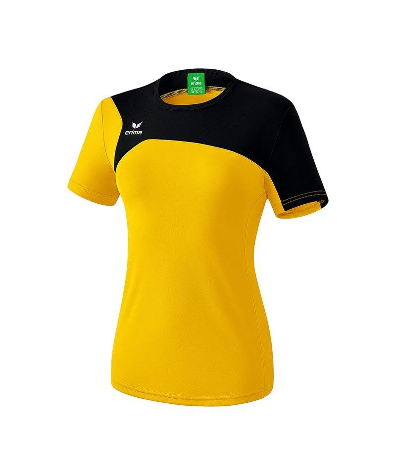 Erima T-Shirt Club 1900 2.0 Damen Gelb Schwarz - gelb