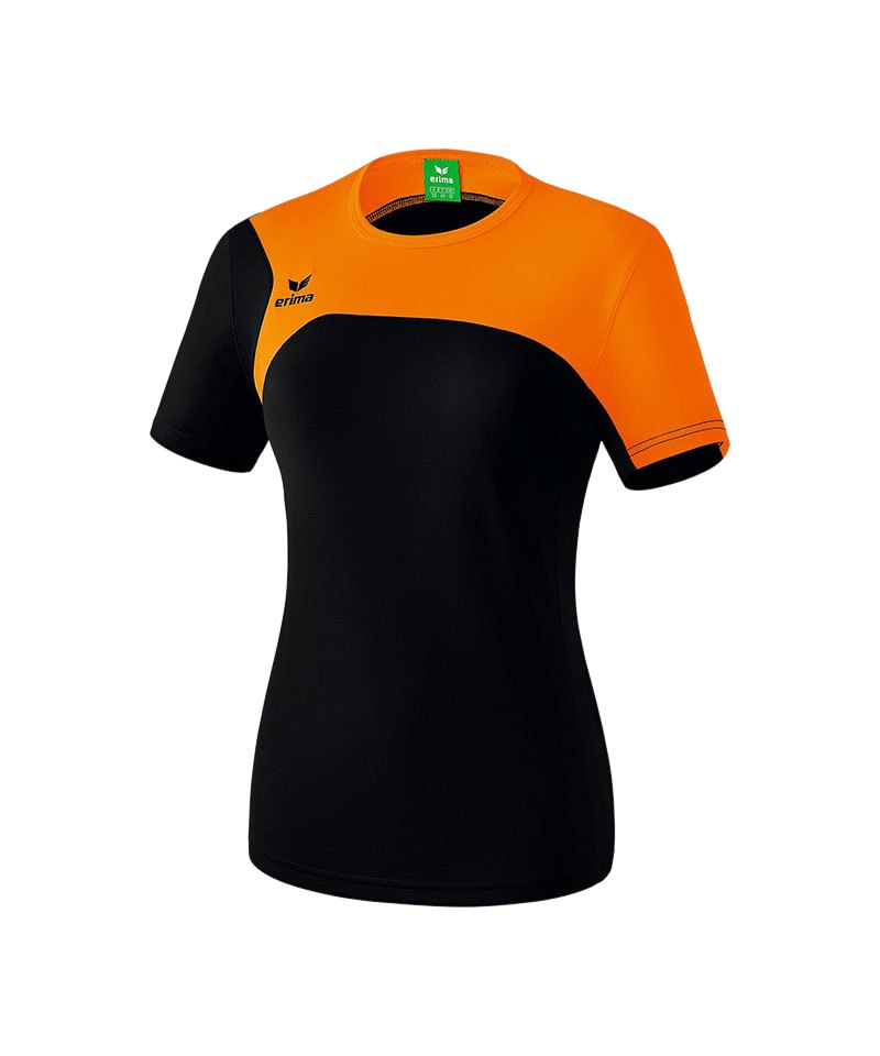 Erima T-Shirt Club 1900 2.0 Damen Schwarz Orange - schwarz