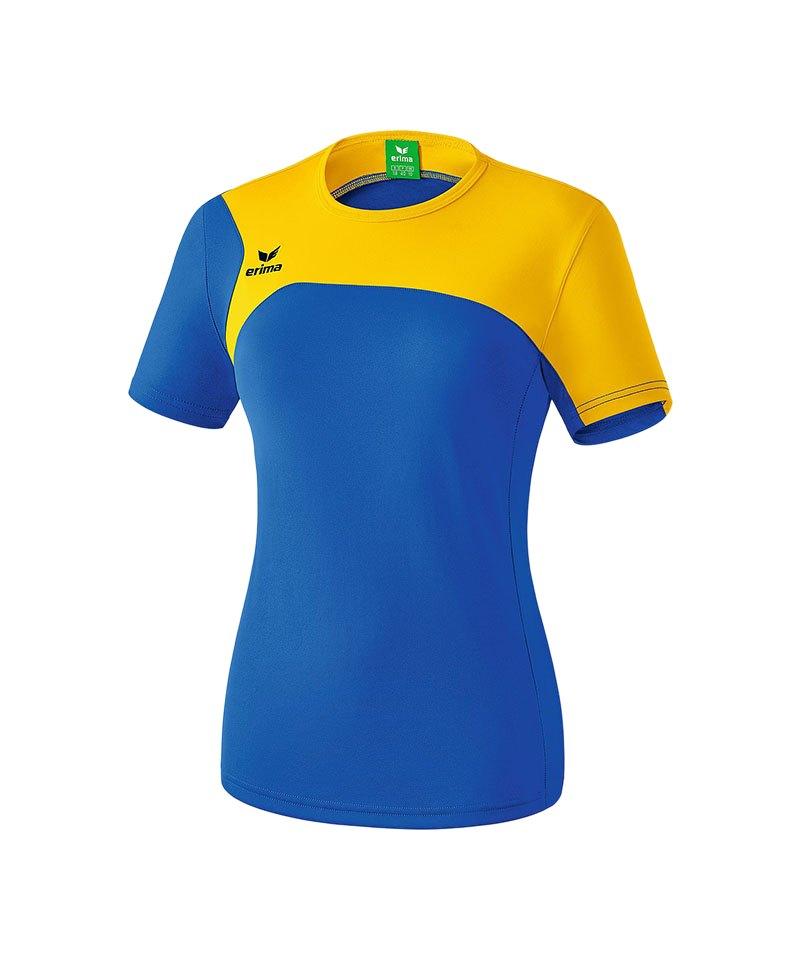 Erima T-Shirt Club 1900 2.0 Damen Blau Gelb - blau