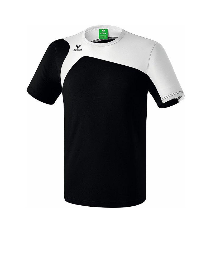 Erima T-Shirt Club 1900 2.0 Schwarz Weiss - schwarz