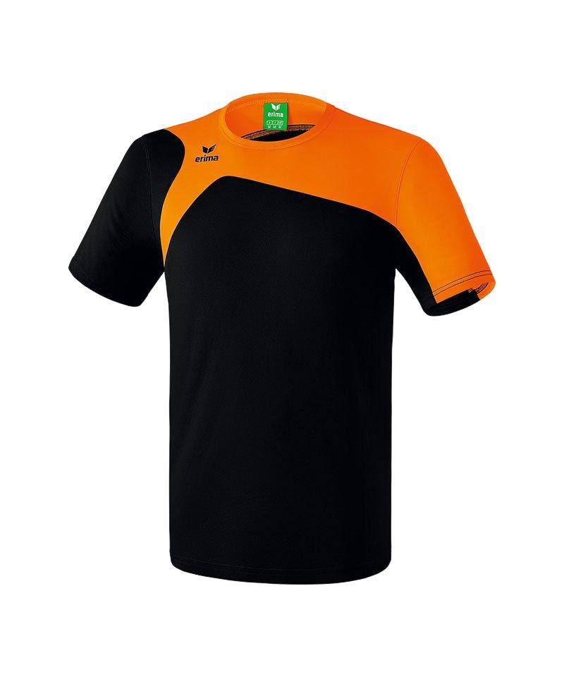 Erima T-Shirt Club 1900 2.0 Kinder Schwarz Orange - schwarz