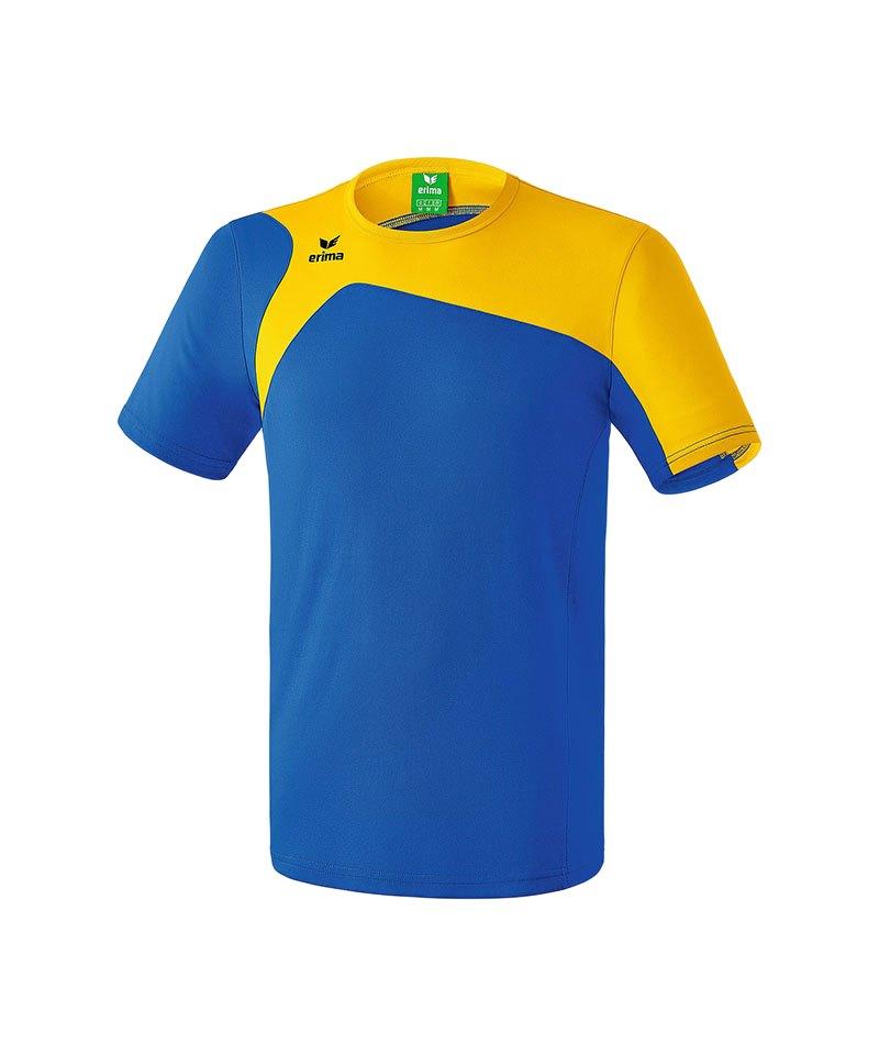 Erima T-Shirt Club 1900 2.0 Kinder Blau Gelb - blau