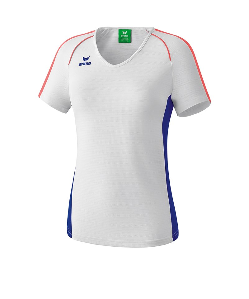 Erima Masters T-Shirt Damen Weiss Blau - weiss