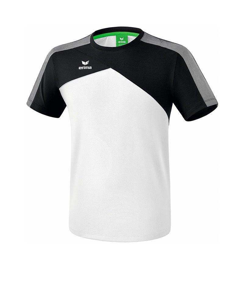 Erima Premium One 2.0 T-Shirt Kids Weiss Grau - weiss