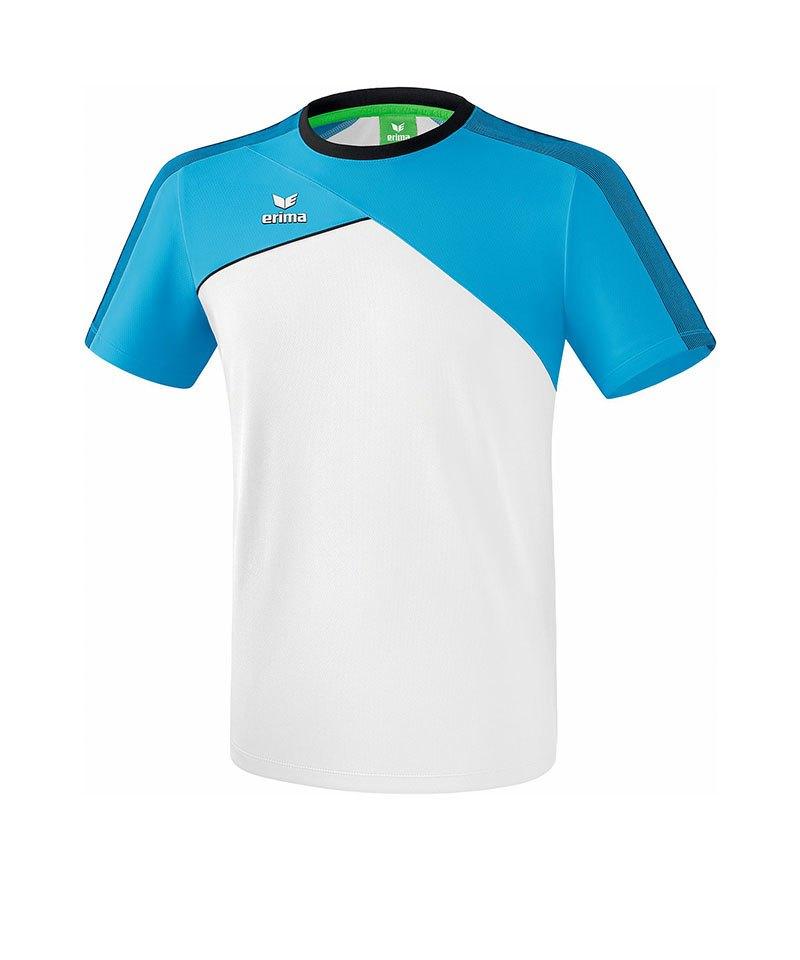 Erima Premium One 2.0 T-Shirt Hellblau Weiss - blau