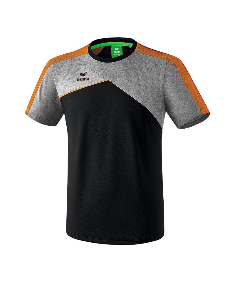 Erima Premium One 2.0 T-Shirt Schwarz Grau Orange - schwarz