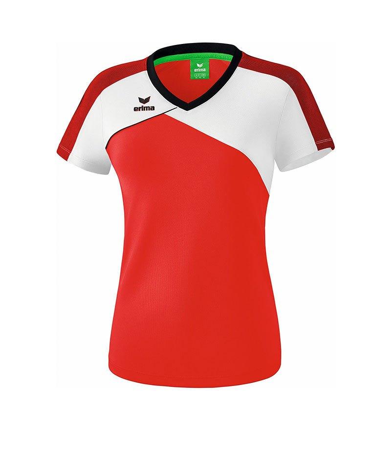 Erima Premium One 2.0 T-Shirt Damen Rot Weiss - rot