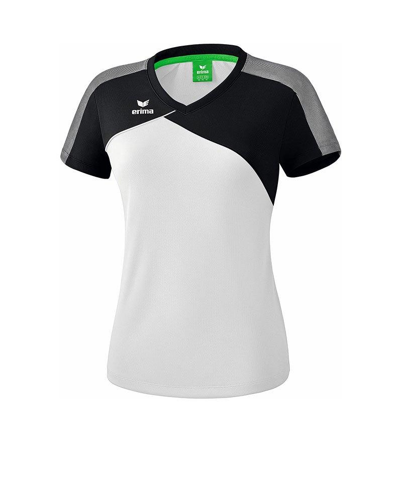Erima Premium One 2.0 T-Shirt Damen Weiss Grau - weiss