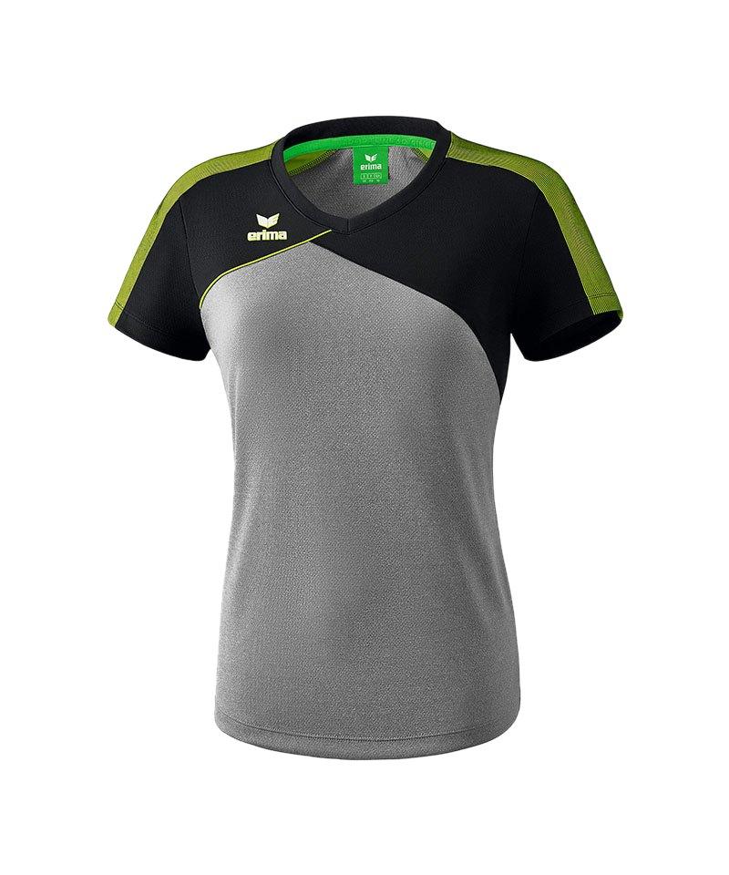 Erima Premium One 2.0 T-Shirt Damen Grau Grün - grau