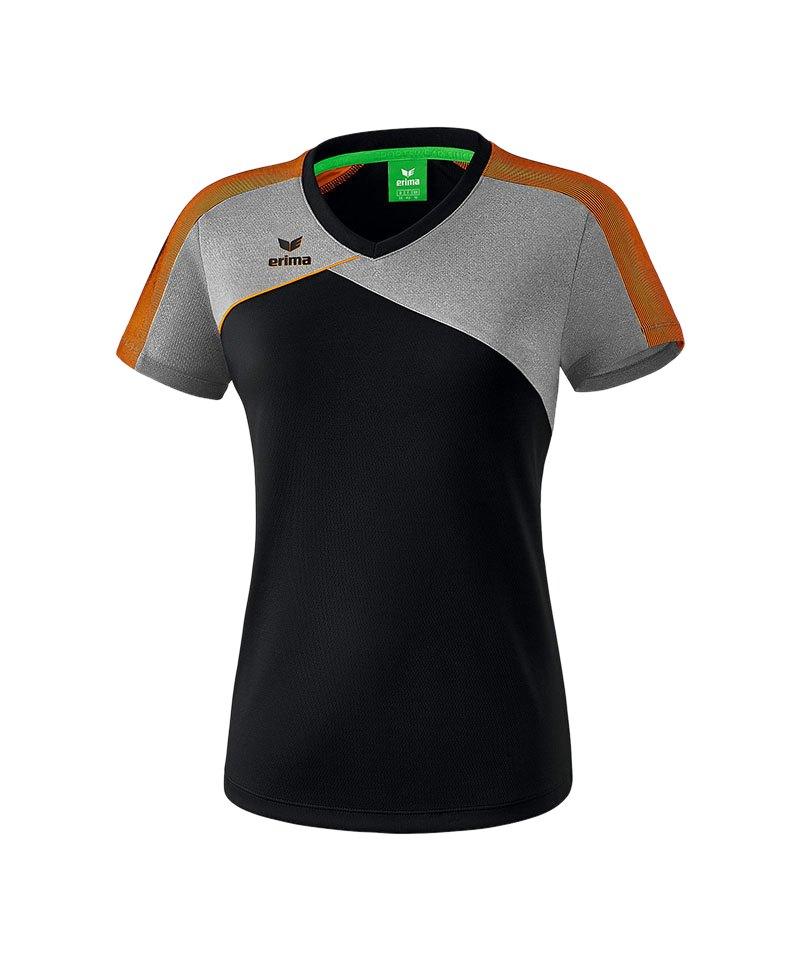 Erima Premium One 2.0 T-Shirt Damen Schwarz Orange - schwarz