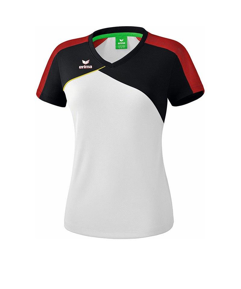 Erima Premium One 2.0 T-Shirt Damen Weiss Rot - weiss