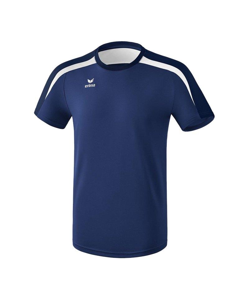 Erima Liga 2.0 T-Shirt Dunkelblau Weiss - blau