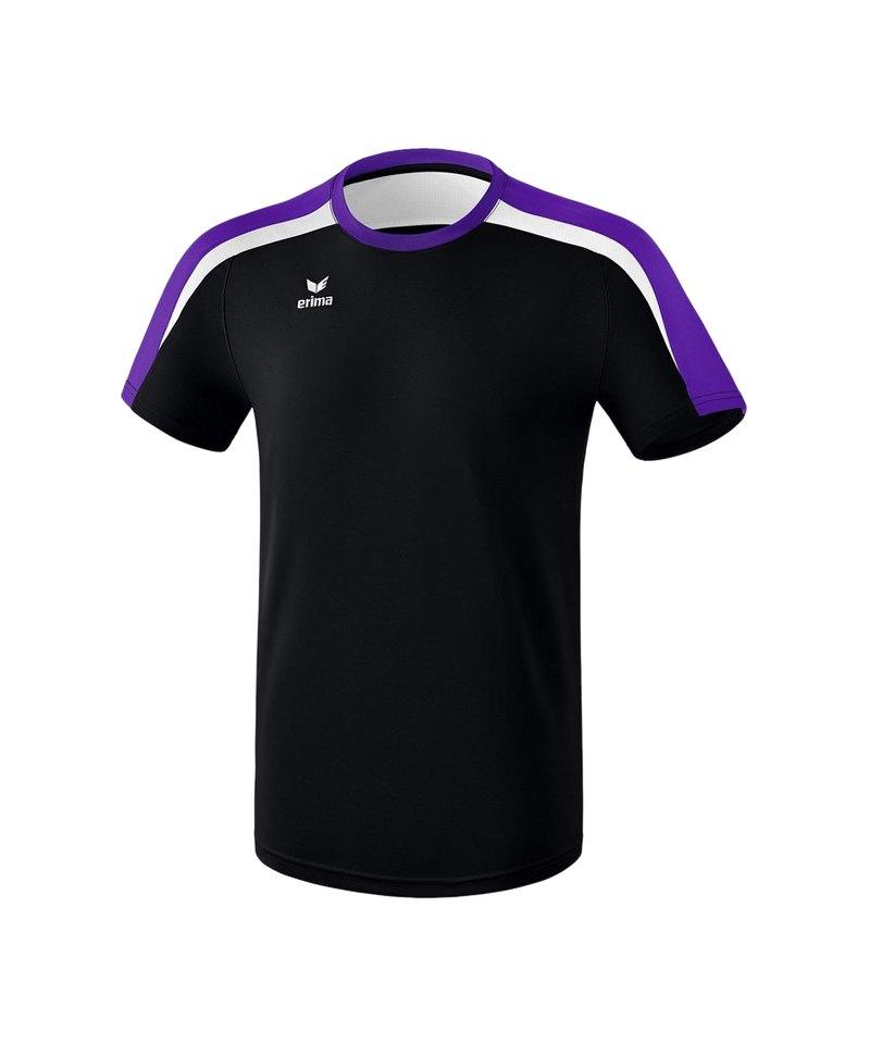 Erima Liga 2.0 T-Shirt Schwarz Lila Weiss - schwarz