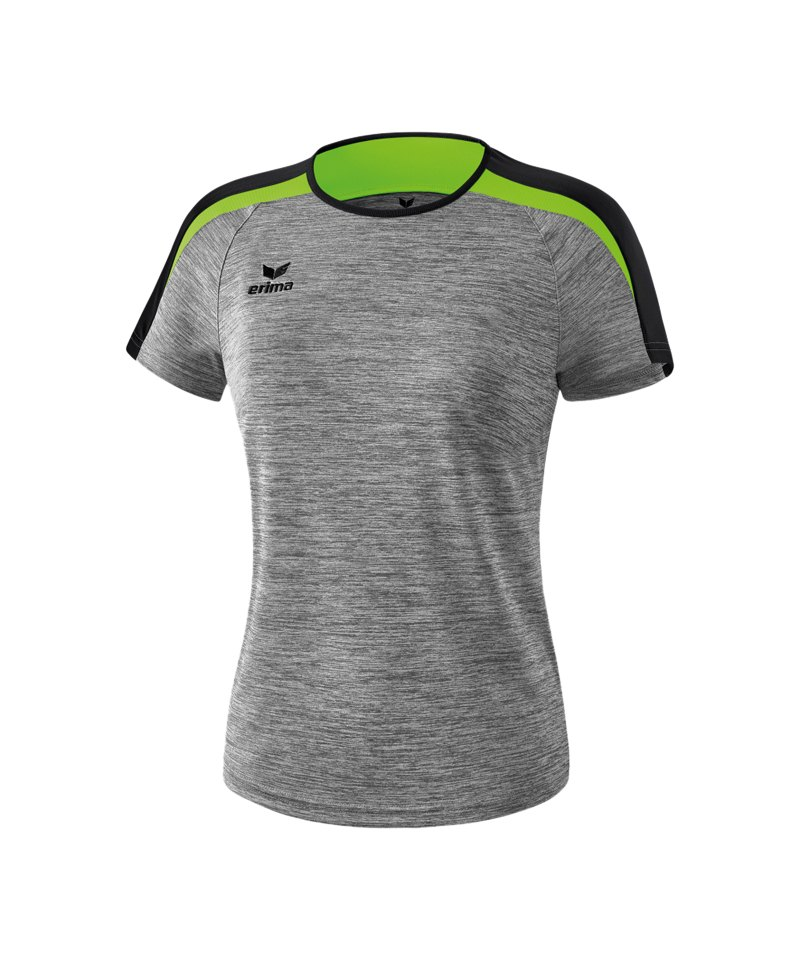 Erima Liga 2.0 T-Shirt Damen Grau Schwarz Grün - grau