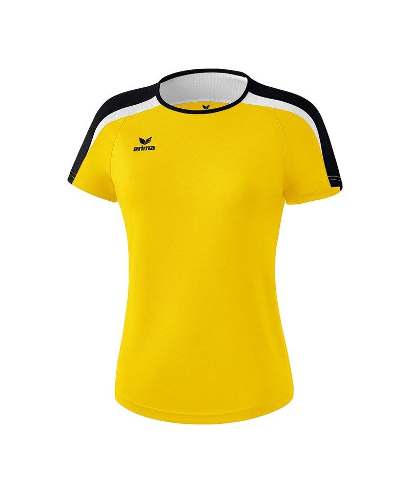 Erima Liga 2.0 T-Shirt Damen Gelb Schwarz Weiss - gelb