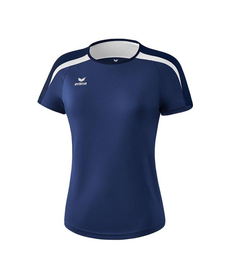 Erima Liga 2.0 T-Shirt Damen Dunkelblau Weiss - blau