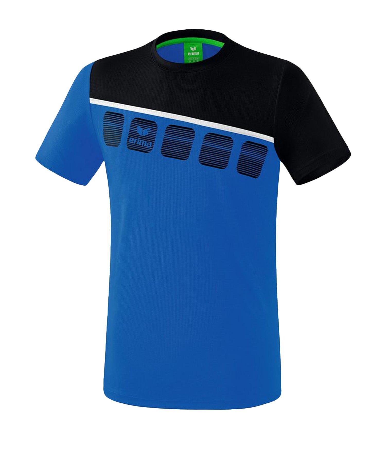 Erima 5-C T-Shirt Kids Blau Schwarz - Blau