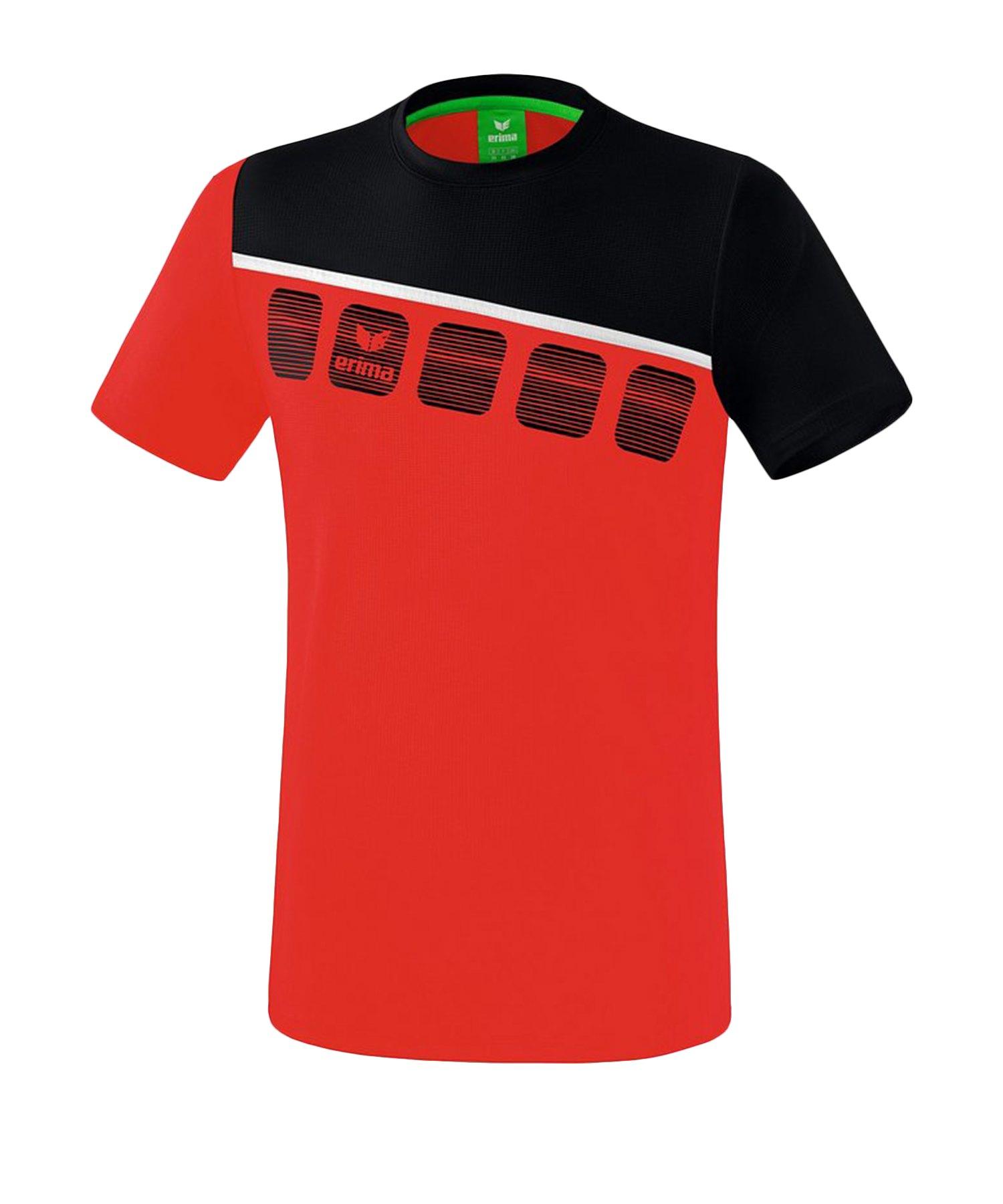 Erima 5-C T-Shirt Kids Rot Schwarz - Rot