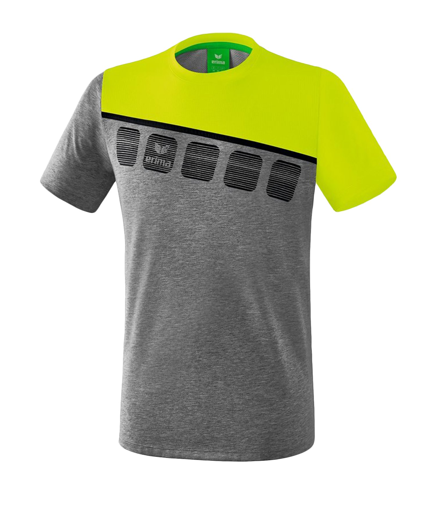 Erima 5-C T-Shirt Kids Grau Grün - Grau