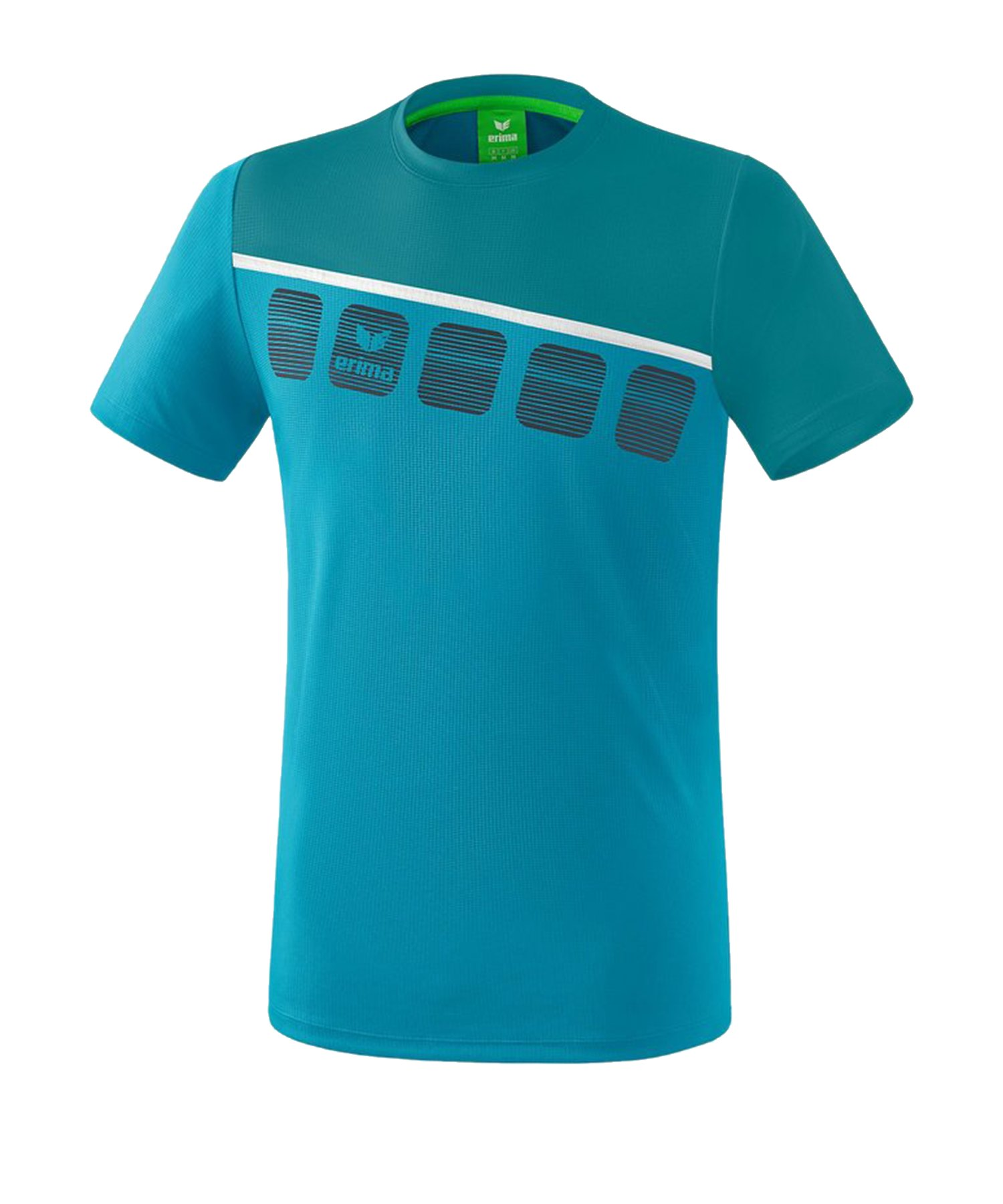 Erima 5-C T-Shirt Kids Blau Weiss - Blau