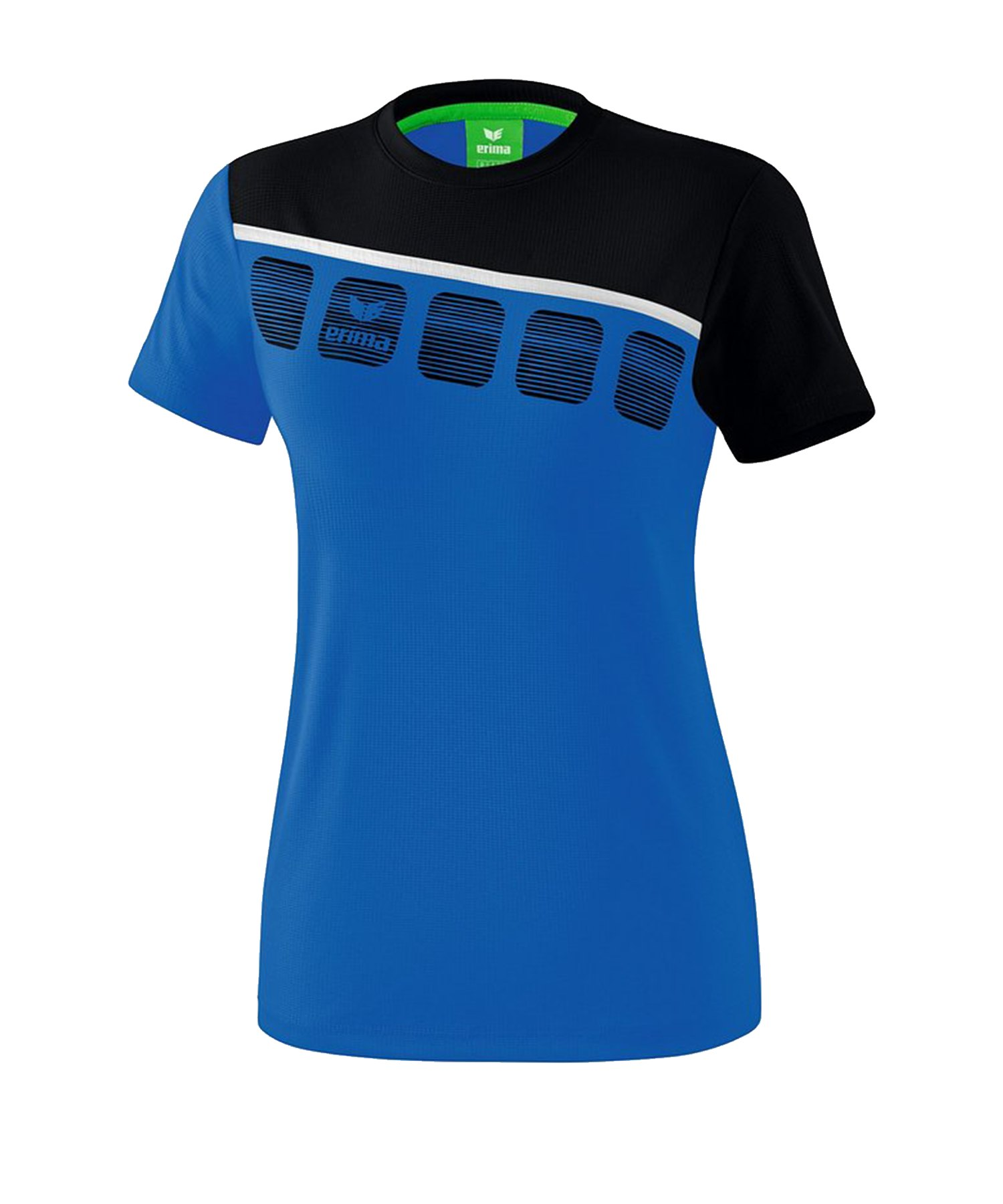 Erima 5-C T-Shirt Damen Blau Schwarz - Blau