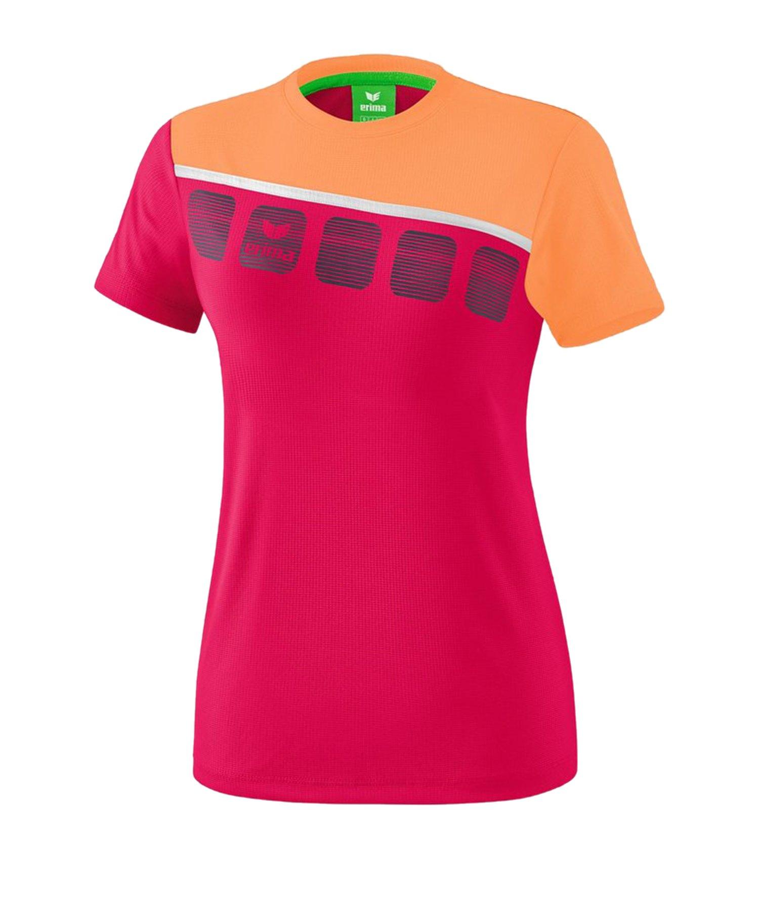 Erima 5-C T-Shirt Kids Pink Orange - Pink