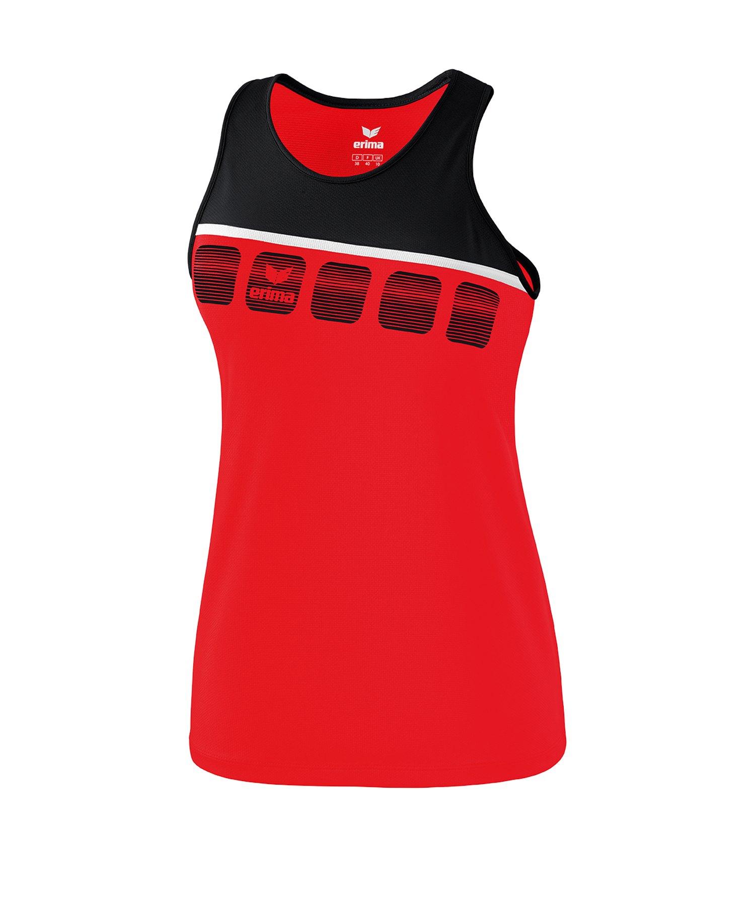 Erima 5-C Tanktop Damen Rot - rot