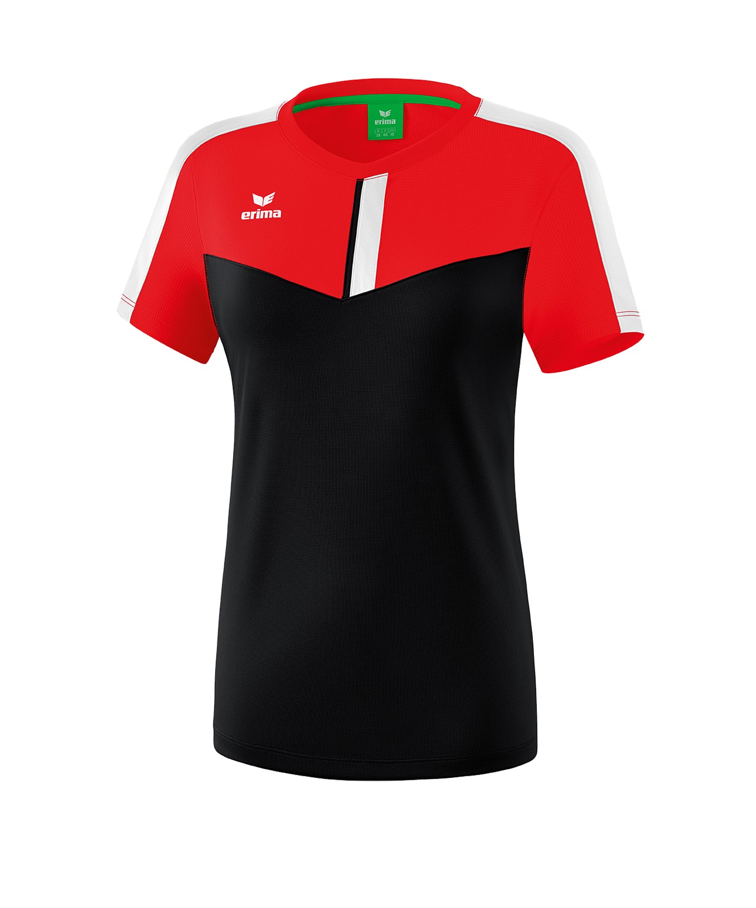 Erima Squad T-Shirt Damen Rot Schwarz - rot