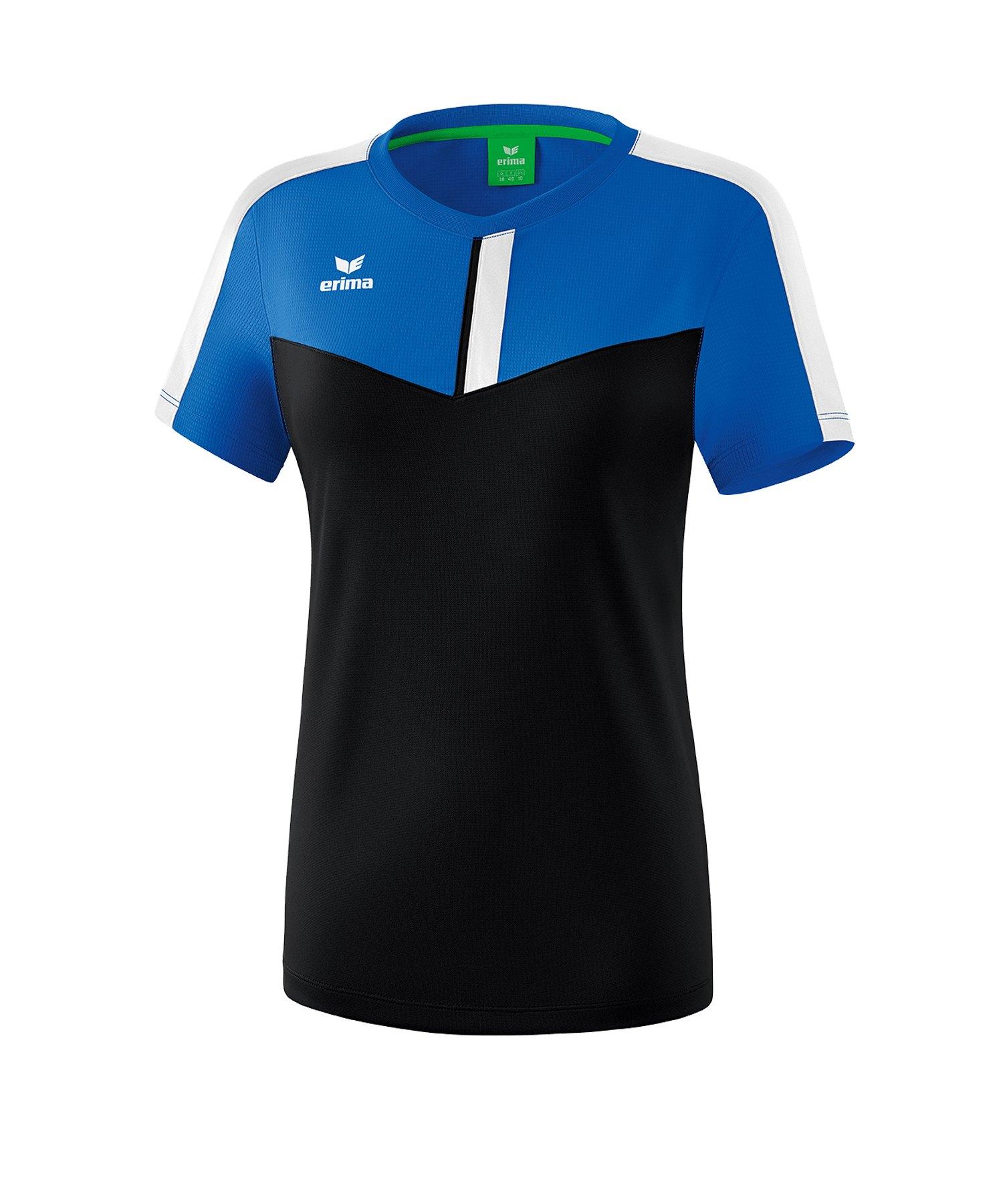 Erima Squad T-Shirt Damen Blau Schwarz - blau