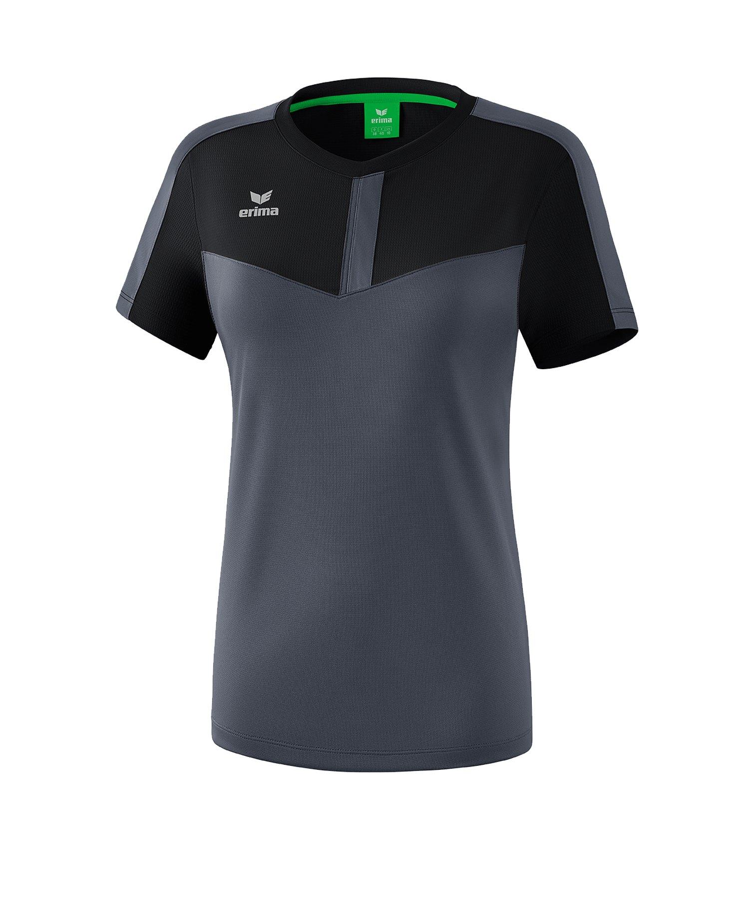 Erima Squad T-Shirt Damen Schwarz Grau - schwarz