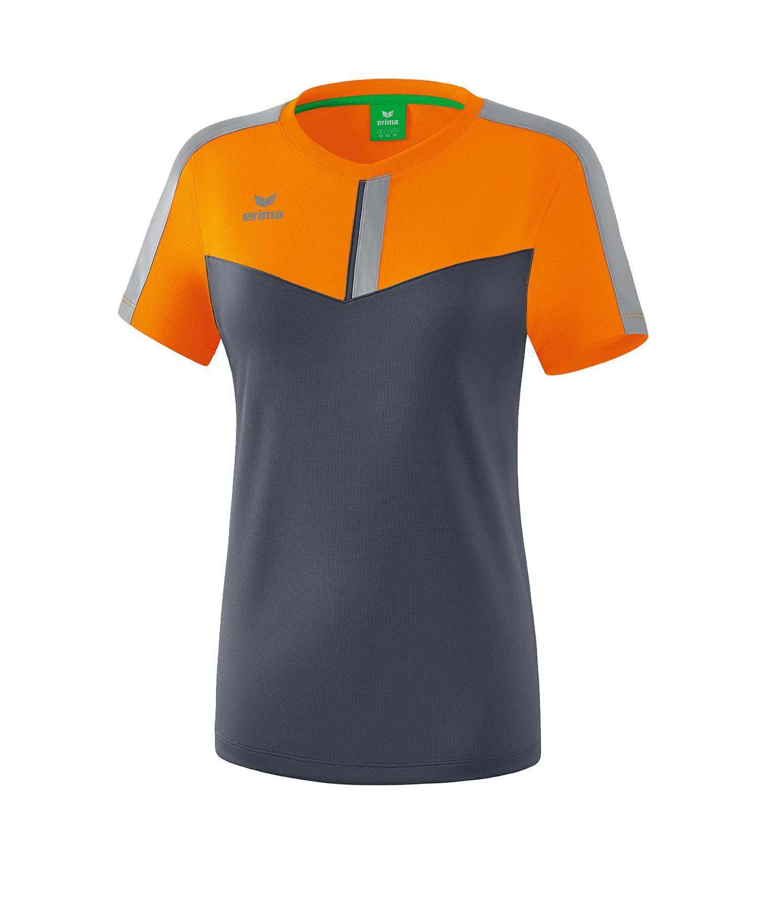 Erima Squad T-Shirt Damen Orange Grau - orange