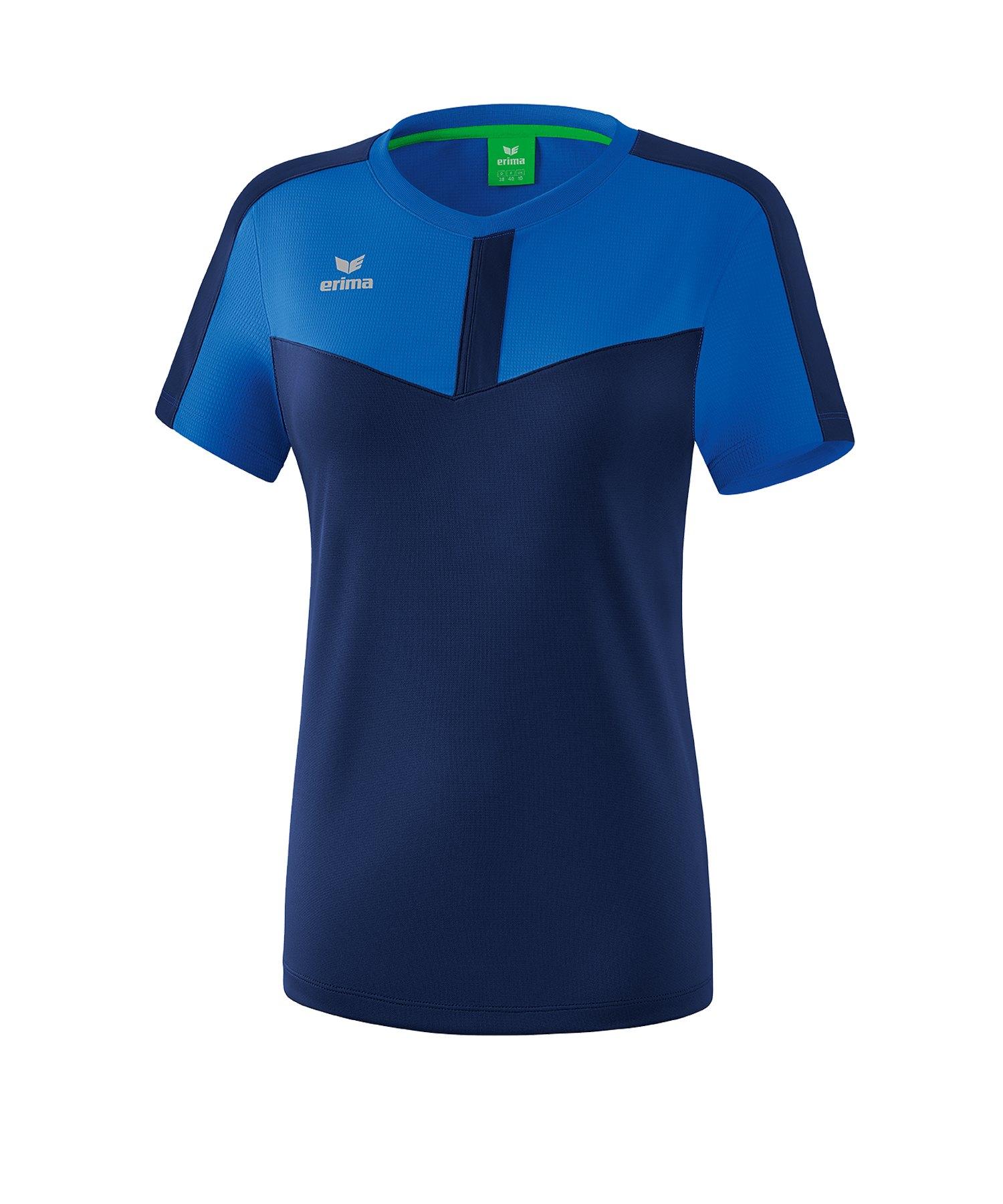 Erima Squad T-Shirt Damen Blau - blau