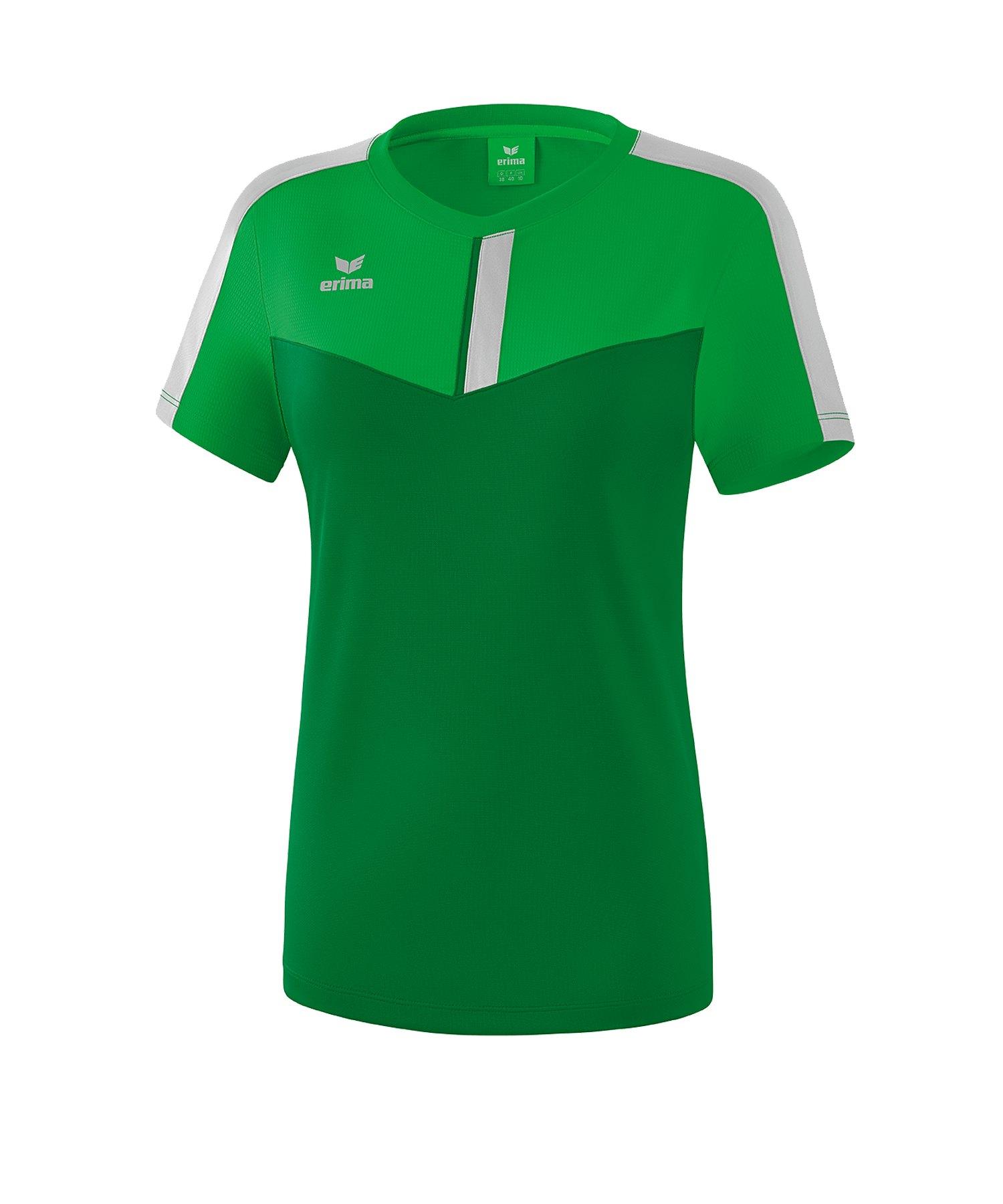Erima Squad T-Shirt Damen Grün Grau - Gruen