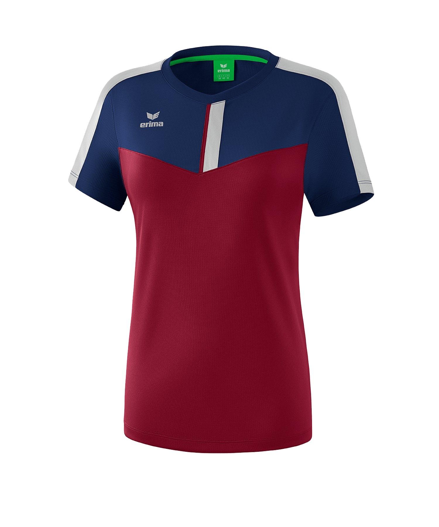 Erima Squad T-Shirt Damen Blau Rot - blau