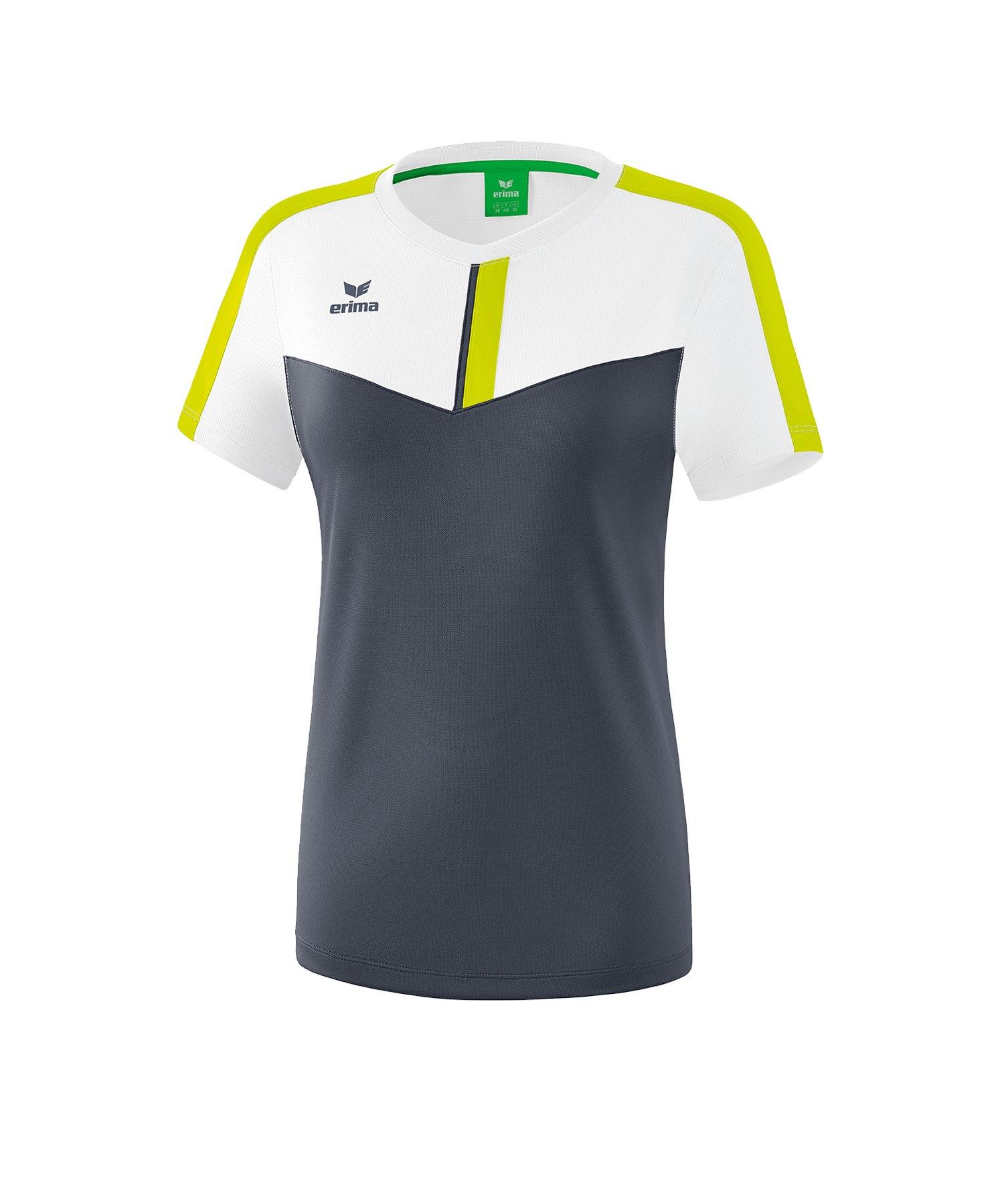 Erima Squad T-Shirt Damen Weiss Grau - weiss