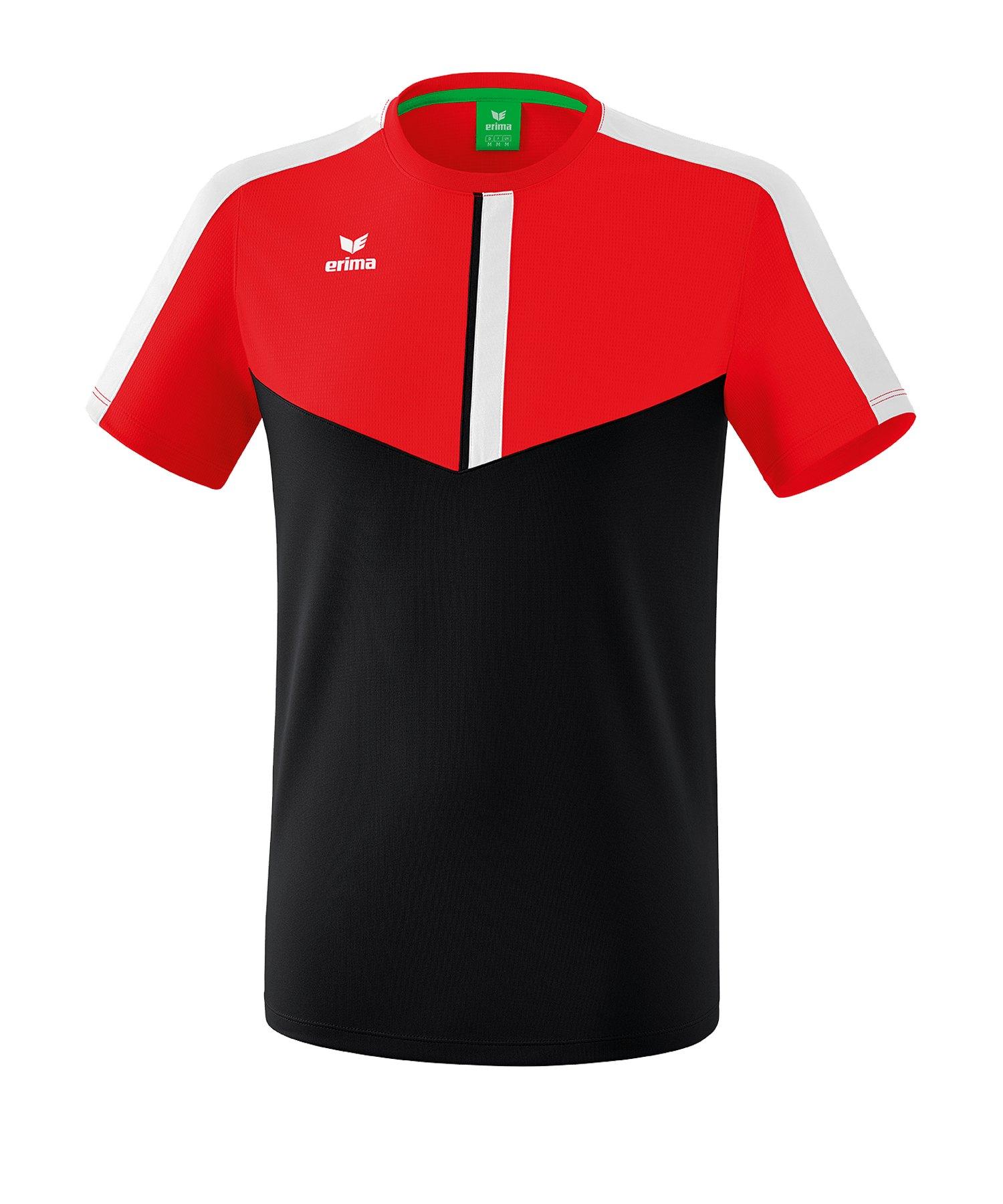 Erima Squad T-Shirt Rot Schwarz - rot