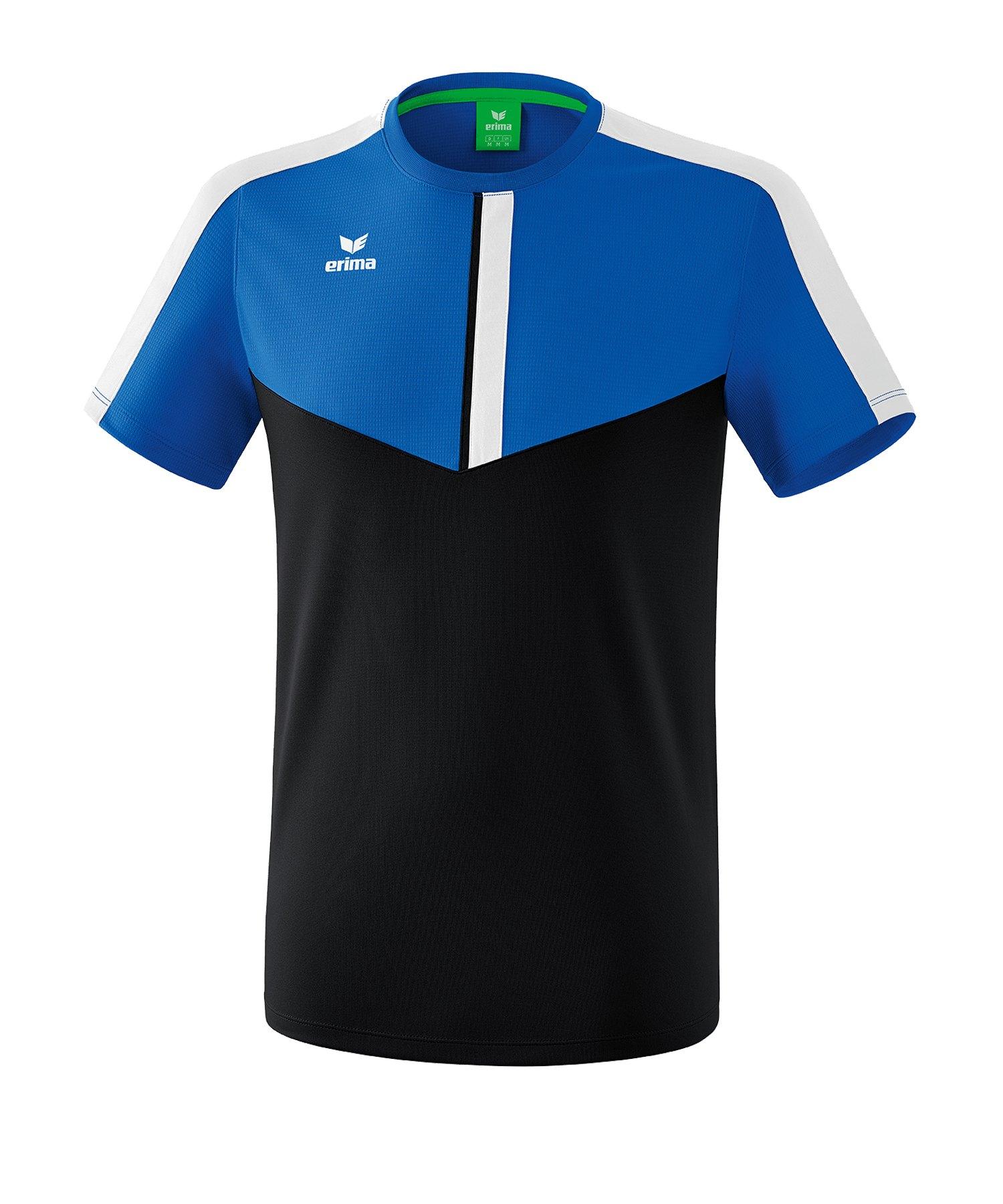 Erima Squad T-Shirt Blau Schwarz - blau