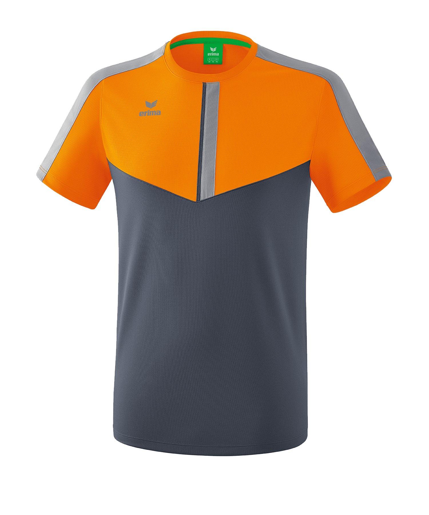 Erima Squad T-Shirt Kids Orange Grau - orange