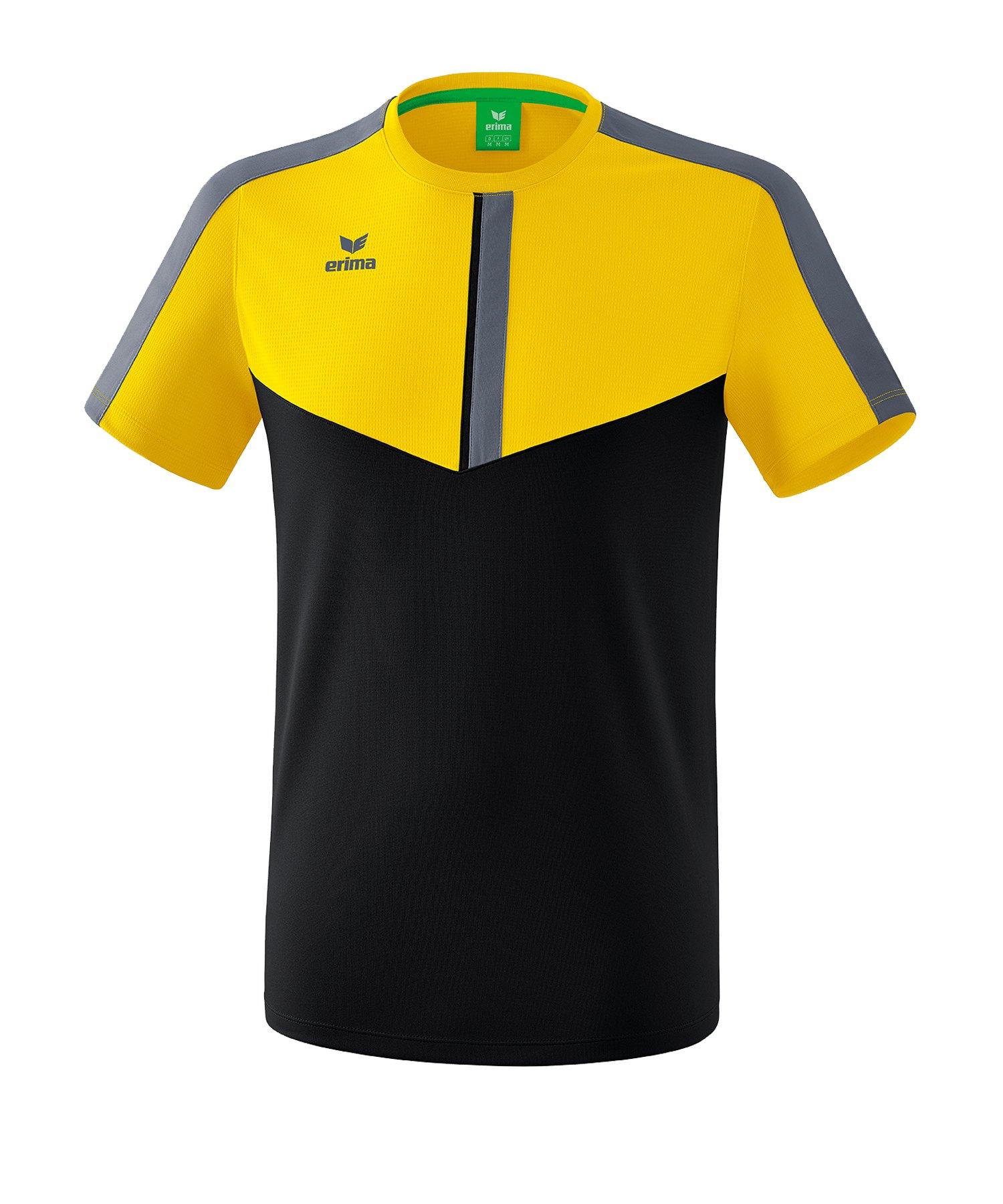 Erima Squad T-Shirt Kids Gelb Schwarz - gelb