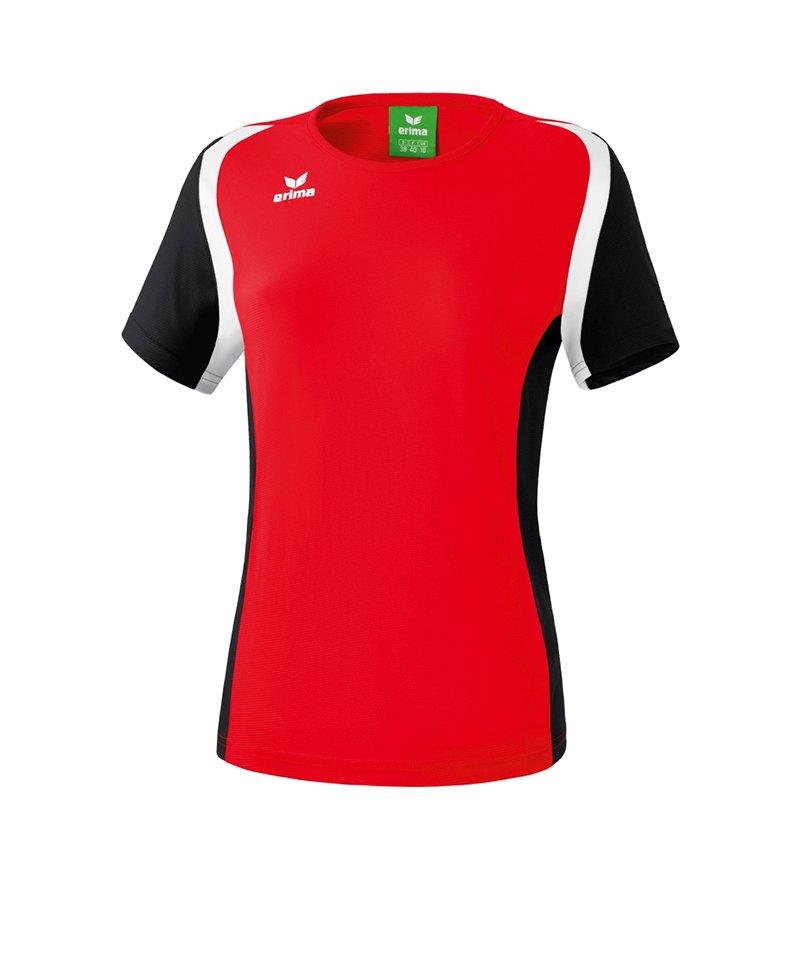 Erima T.Shirt Razor 2.0 Damen Rot Schwarz - rot