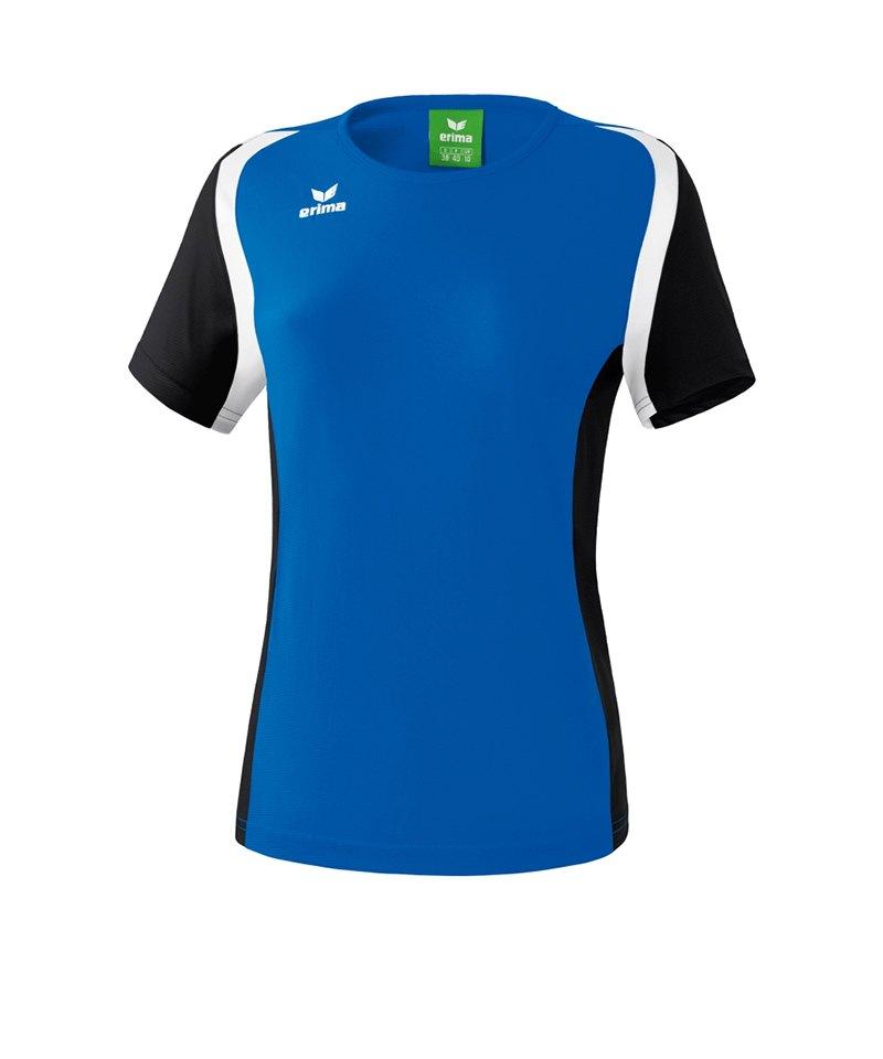 Erima T.Shirt Razor 2.0 Damen Blau Schwarz Weiss - blau